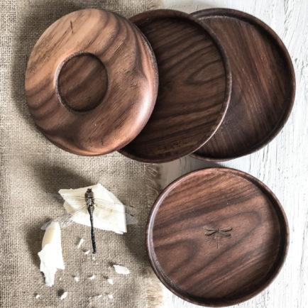 Talerzyk drewniany – orzech amerykański