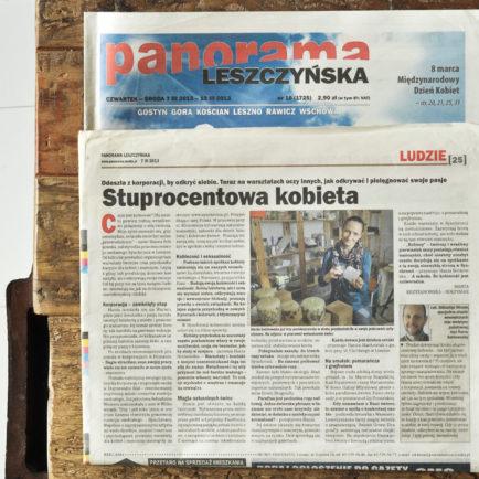Artykuł w Panoramie Leszczyńskiej