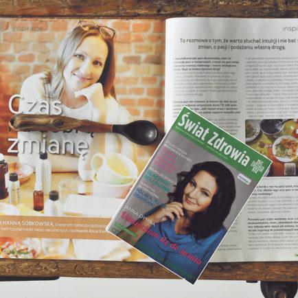 Wywiad z Hanną Sobkowską w Świecie Zdrowia