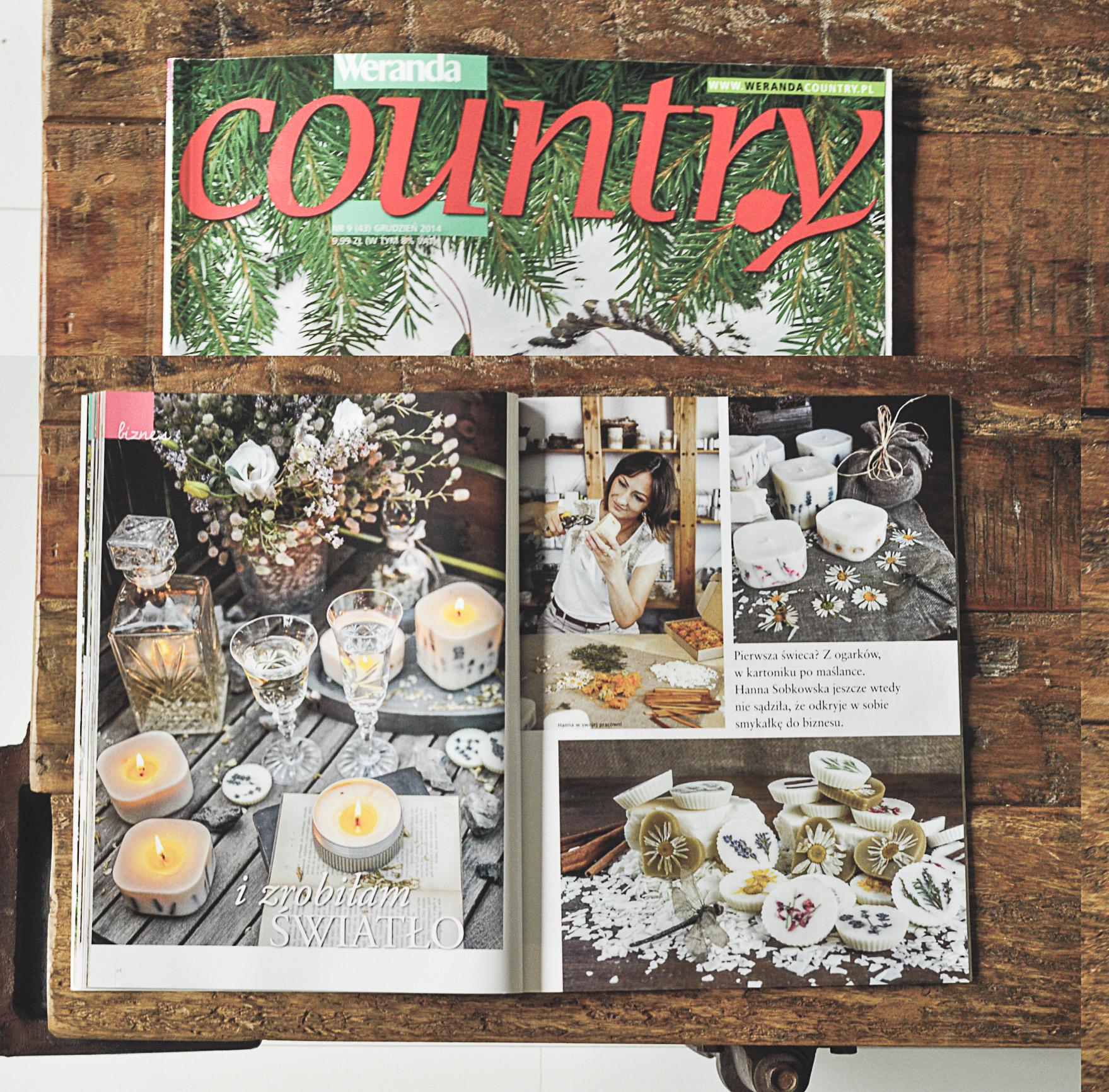 20.11.2014 r. Historia Green Dragonfly w świątecznym numerze Werandy Country